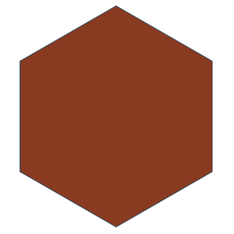 Rouge 8-inch Hexagon encaustic cement tile