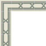 Mission Santiago Border and Corner Layout in Verdant Colorway