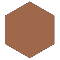 "Mission 8"" x 9"" Hexagon Cement Tile - Terracotta"