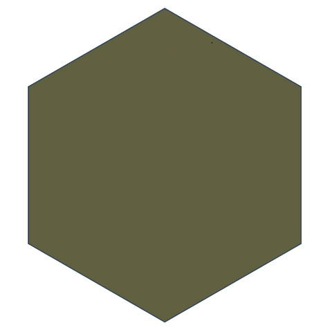 "Mission Verde Militar 8"" x 9"" Hexagon Encaustic Cement Tile"