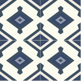 "Mission Yanelli B 8""x8"" Cement Tile Group (4 tiles)"