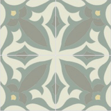 Mission Zebra Encaustic Cement Tile Quarter Design Summer Colorway