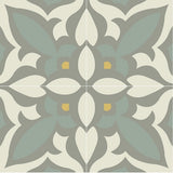 Mission Zebra Encaustic Cement Tile Quarter Design - Sage and Gris Colorway