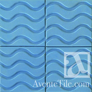 "Textured Ondas 10"" x 10"" Encaustic Cement Tile"