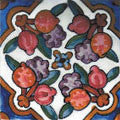 "Portuguese Portalegre 4"" x 4"" Hand Painted Ceramic Tile"