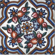 "Portuguese Portalegre 6"" x 6"" Hand Painted Ceramic Tile"