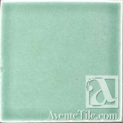 "Pool Tile Fern 6"" x 6"" Handmade Porcelain Tile"