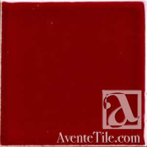 "Pool Tile Cranberry 6"" x 6"" Handmade Porcelain Tile"