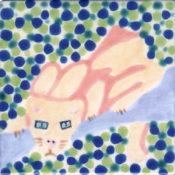 Whimsical Animal Panther Tile