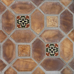 "Arabesque Tuscan Mustard 4""x8"" Picket Set Cement Tile"