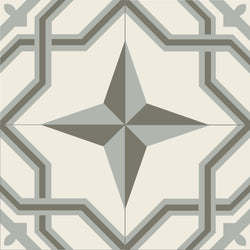 "Mission Regent A Quarter Design 8""x8"" Encaustic Cement Tile (4 tiles)"