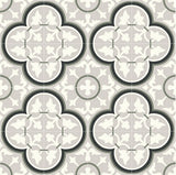 Mission Roseton Green and Gray Encaustic Cement Tile Rug