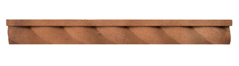 "Rustic 16"" Rope Step Molding - Cotto Dark"