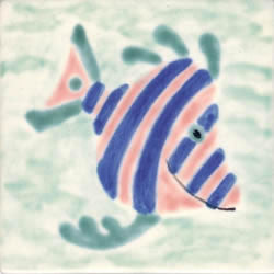 Whimsical Sea Life Fish 1 Tile