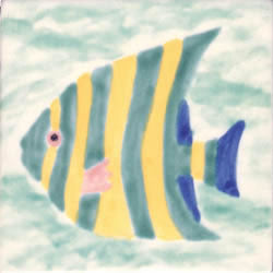 Whimsical Sea Life Fish 4 Tile