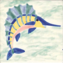 Whimsical Sea Life Fish 5 Tile