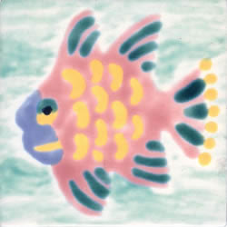 Whimsical Sea Life Fish 6 Tile
