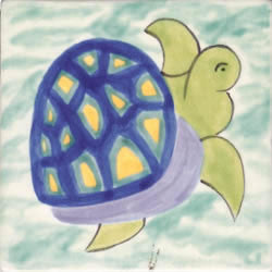 Whimsical Sea Life Turtle