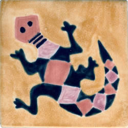 Whimsical Animal Salamander Tile