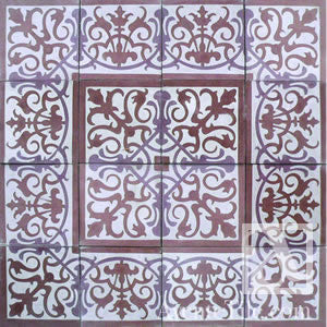 "Traditional San Juan Cement Tile 8"" x 8"" Cement Tile"