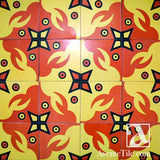 "Artist Series Sanmaray Gil 8"" x 8"" Encaustic Cement Tile"