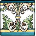 "Spanish Tile | Hand-painted Albacete 4""x4"""