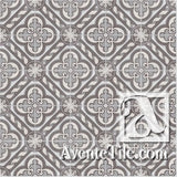 Traditional Cathedral Cement Tile Rug or Pattern Repeat
