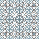 Traditional Neiba E Encaustic Cement Tile Rug - 4 x 4 Tiles