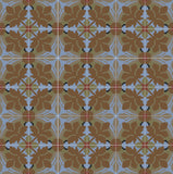 Traditional Whitman Encaustic Cement Tile Rug Layout - Northpoint Colorway