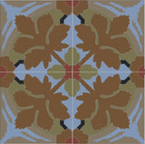 Traditional Whitman Encaustic Cement Tile Quarter Design - Northpoint Colorway
