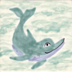 Whimsical Sea Life Tiles - Dolphin 1