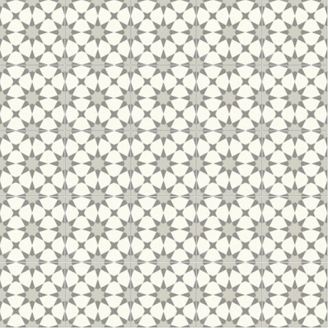 "Mission Anza Evening Gray 8""x8"" Cement Tile Rug - 5 tiles x 5 tiles"