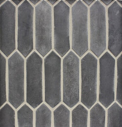 "Arabesque 3""x11"" Pickets Charcoal Gray"