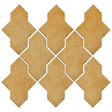 Clay Arabesque Castille Glazed Ceramic Tile - Dijon Mustard Matte