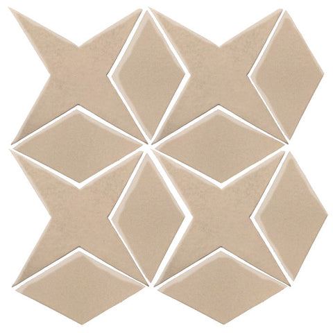 Clay Arabesque Granada Tile - Alamond 7506c