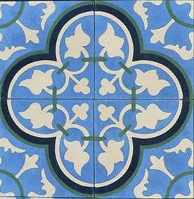 Bayahibe Field Quarter Design Encaustic Cement Tile