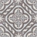 Traditional Cathedral Cement Tile - Complete Quarter Design Unpolished / Raw Finish