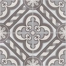 Traditional Cathedral Cement Tile - Complete Quarter Design POLISHED FINISH