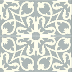 "Traditional Manzanillo Glory Encaustic Cement Tile 8"" x 8"" - Quarter Design showing 4 Tiles"