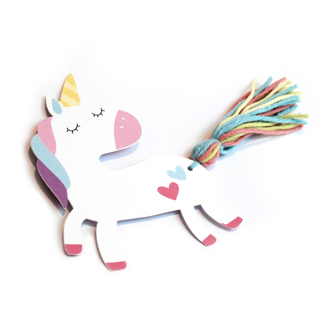 DIY Rainbow Unicorn Bookmark