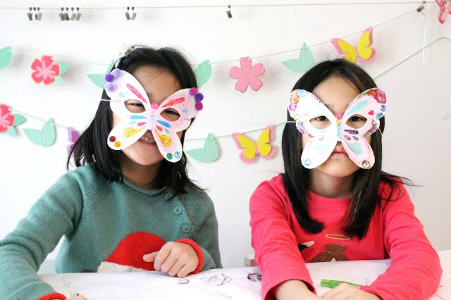 Celebrating the First Day of Spring with Butterfly Masks DIY Project
