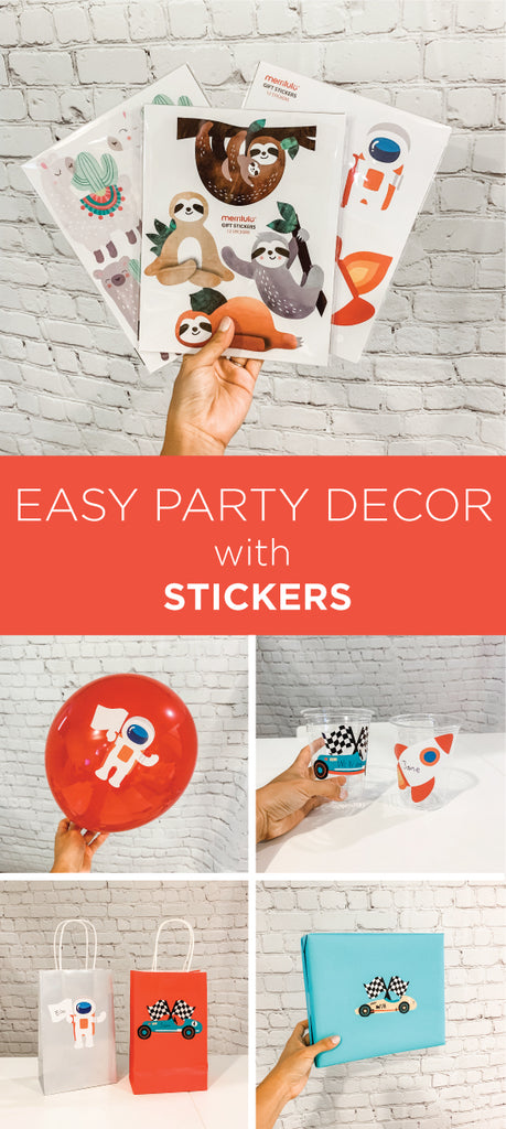 DIY Party Decorations with Stickers