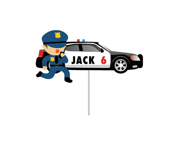 Police Car Cake Topper - Custom