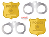 Cops and Robbers | Police Party - Gift Bag Stickers, 12 ct