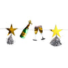 cheers champagne bottle and star tassel garland