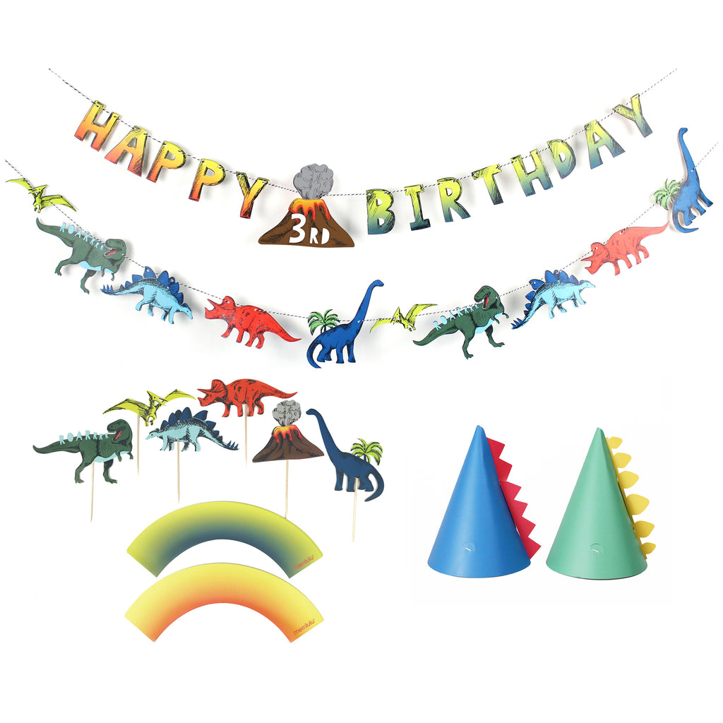 Dinosaur Birthday Party Decoration Kit - 12 guests