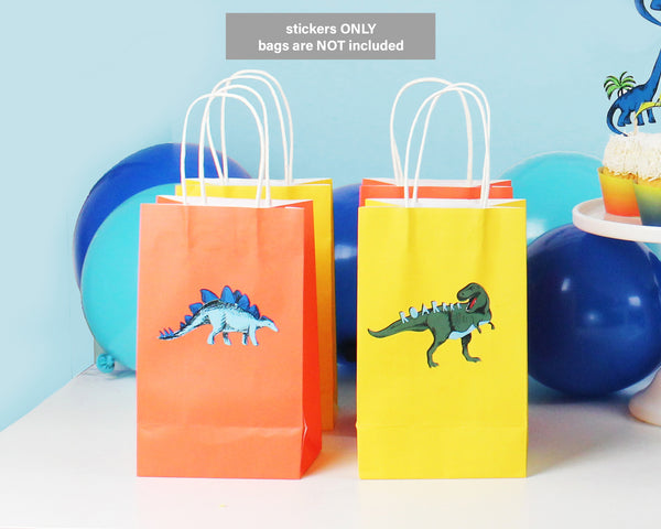 Dinosaur Stickers for Gift Bags