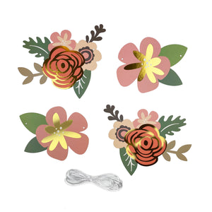 Flower Banner Charms