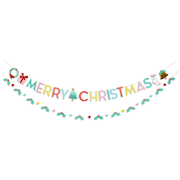 Holly Jolly Christmas - Party Banner