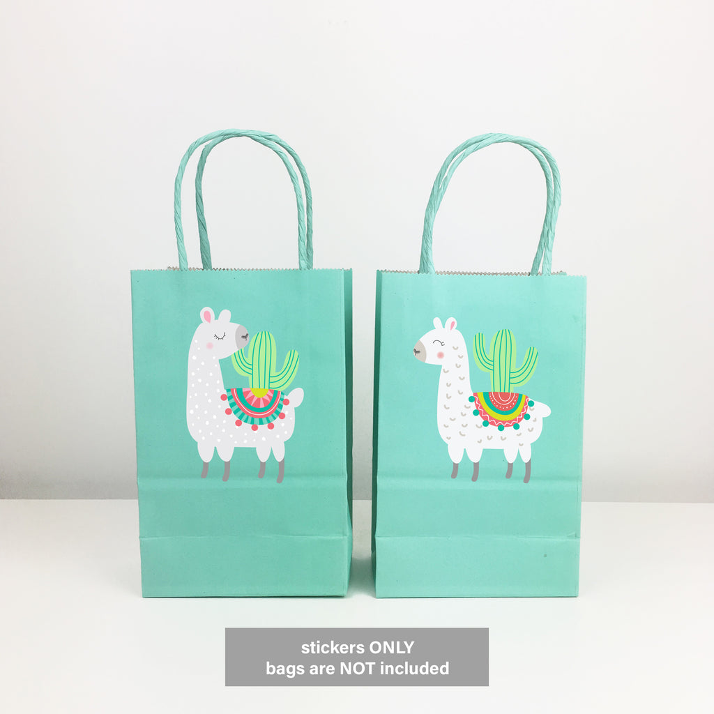 Llama Stickers for Gift Bags, 12 ct